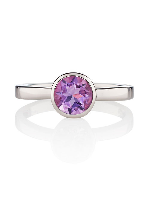 Juliet amethyst silver ring