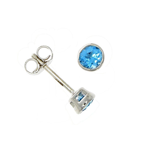 Topaz and 9ct white gold stud earrings