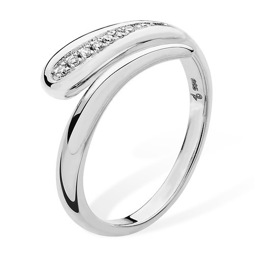Open Diamond Drop ring