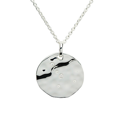 Cancer Constellation silver pendant
