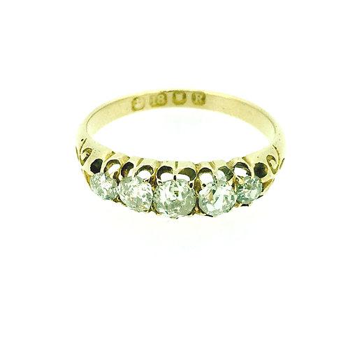 Vintage 18ct yellow gold Diamond ring 1892