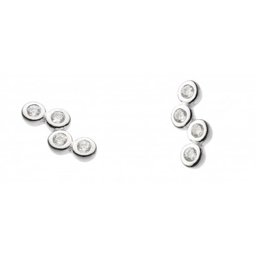 Scattered small CZ stud earrings