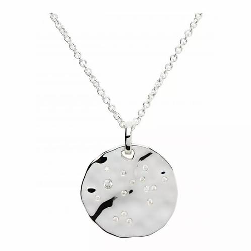Sagittarius Zodiac silver pendant