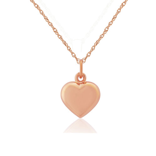 Puffed Heart Rose Gold pendant
