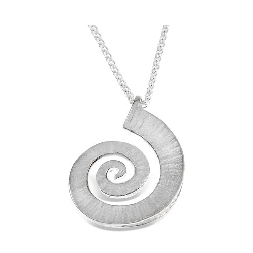 Dreki spiral sea wave pendant