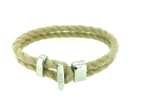 Rope and Steel bracelet