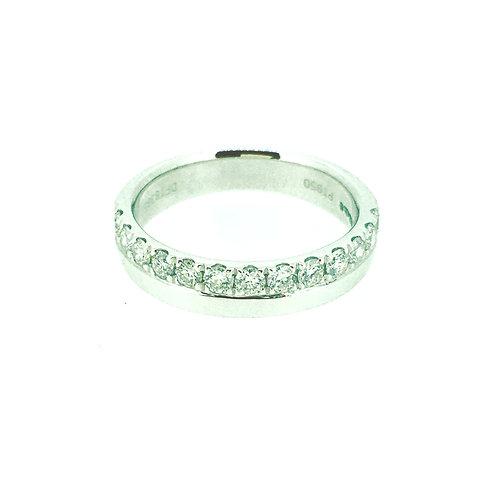 Diamond half Eternity Platinum ring