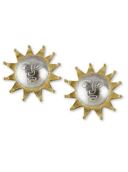 Solar stud earrings