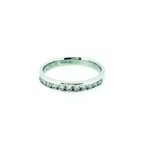 Diamond and Platinum half set eternity ring