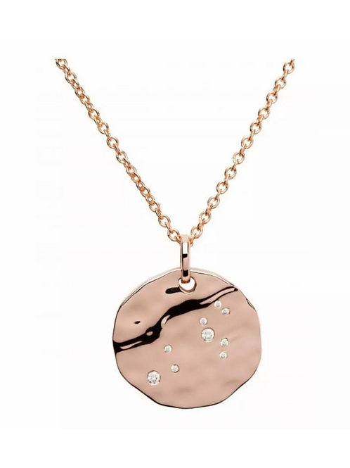 Leo Constellation Rose gold plated silver pendant