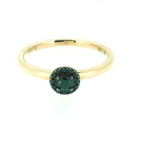Black Diamond cluster rose gold ring