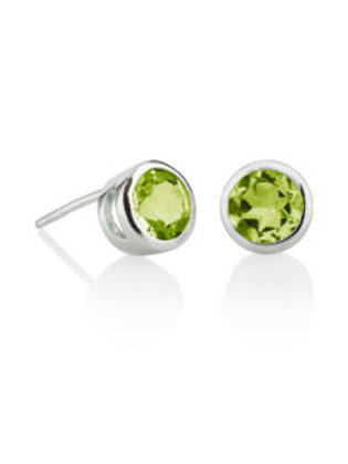 Peridot and silver Juliet stud earrings