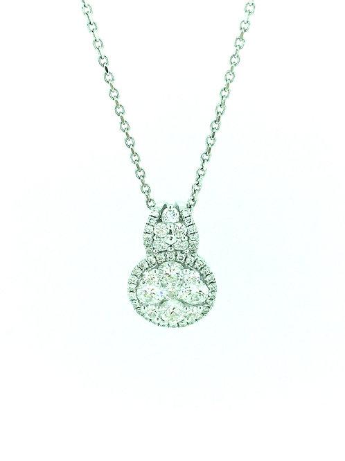 Diamond Round white Gold pendant