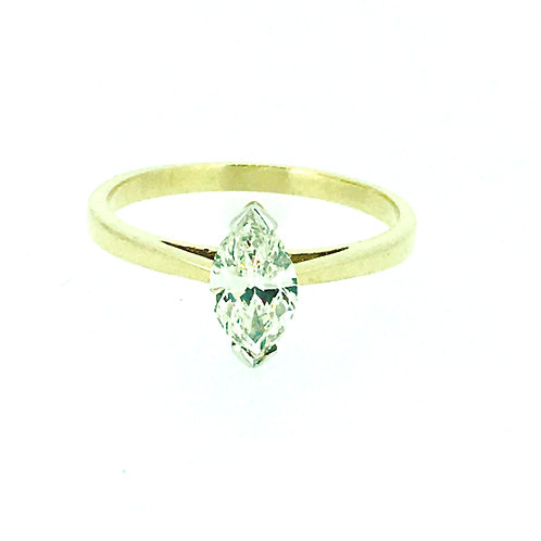 Marquise Diamond gold ring