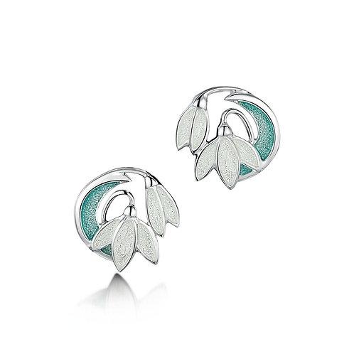 Snowdrop Two Flower stud earrings