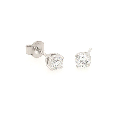 Diamond 0.5ct Solitaire (Lab grown) 18ct White Gold stud earrings