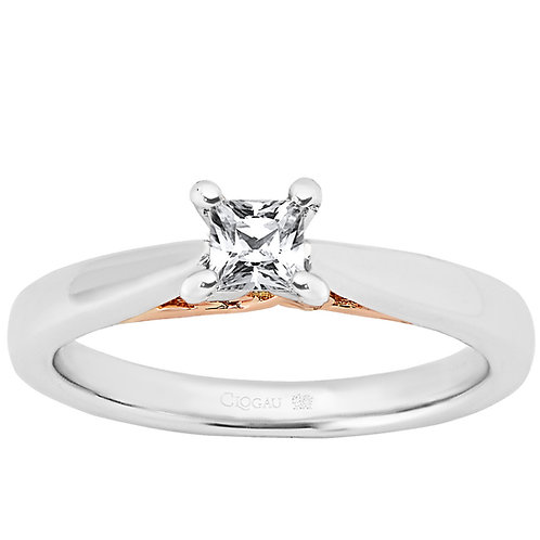 New Beginning Clogau ring 30 point Princess cut Diamond