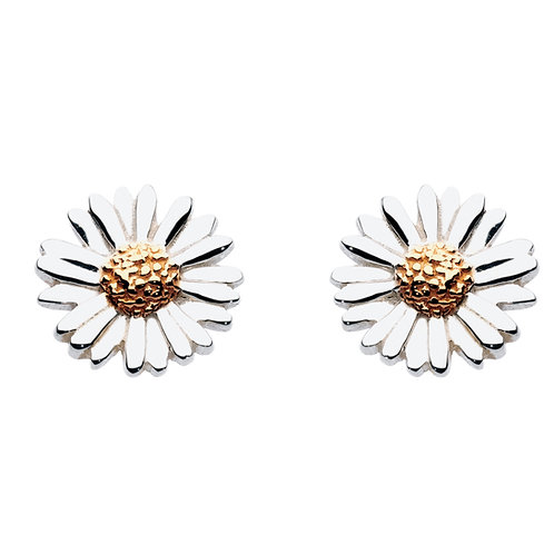 Daisy with Gold plate stud earrings