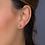 Thumbnail: Miniature Sparkle CZ mini Moon stud earrings