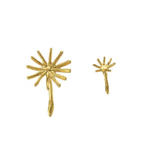 Asymmetric Dandelion Fluff Stud Earrings