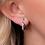 Thumbnail: Entwine Twine Twist CZ Pavé Hoop Earrings