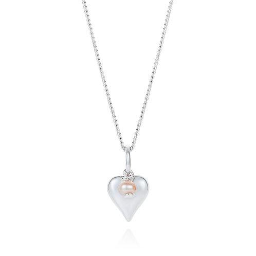 Signature silver heart pendant