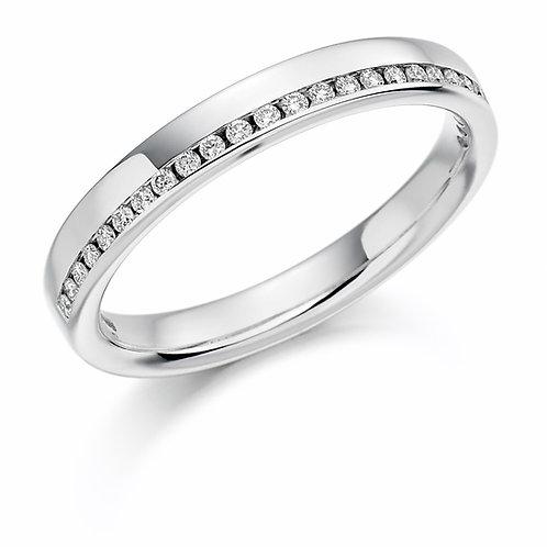 Offset Diamond 0.12ct half Eternity ring