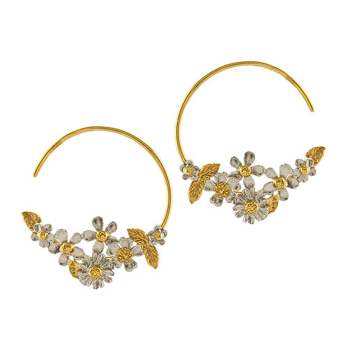 Posy Fine hoop earrings