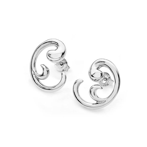 Elements Swirl stud earrings