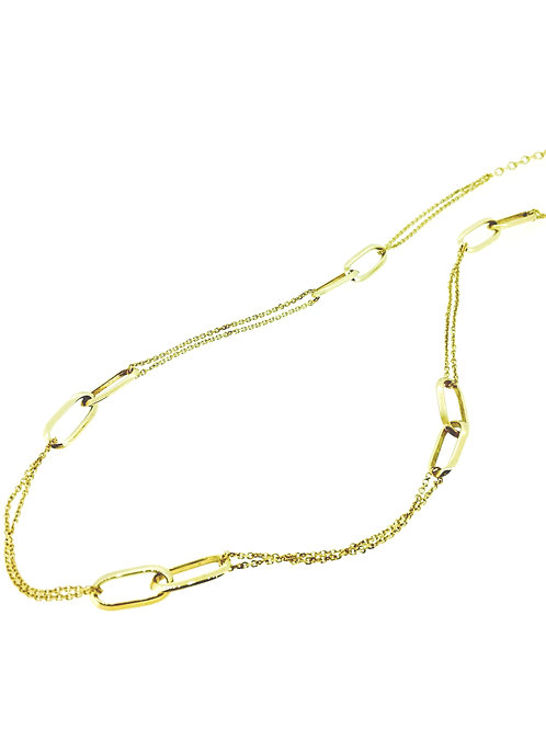 Double Link gold necklace