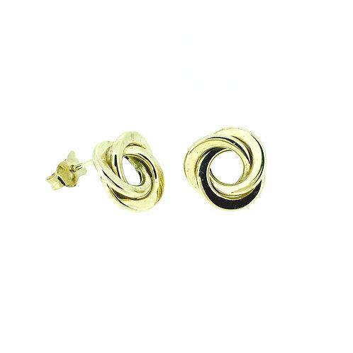 Large Open Knot gold earrings