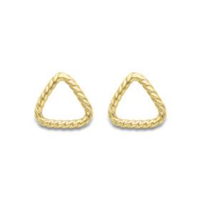 Triangular Rope Gold stud earrings