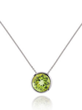 Juliet peridot and silver pendant