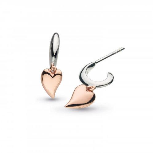 Desire Kiss mini Heart hoop earrings