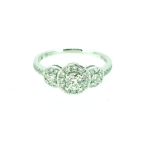 Diamond Trilogy White Gold ring