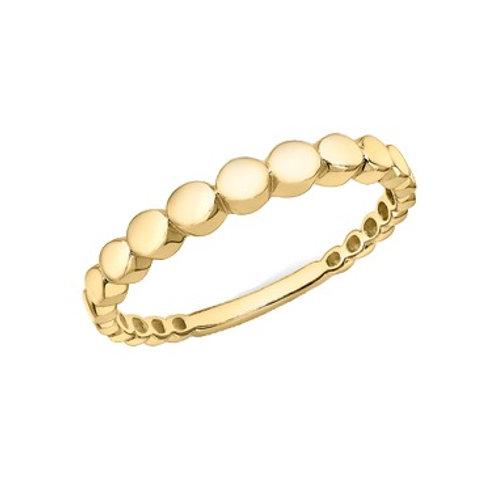 Graduated Circle 9ct Yellow Gold ring