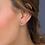 Thumbnail: Miniature Sparkle CZ Shining Star Stud Earrings