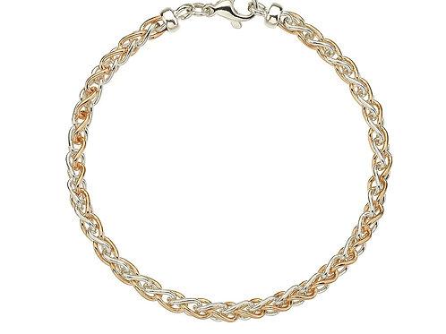 9ct rose and white gold bracelet