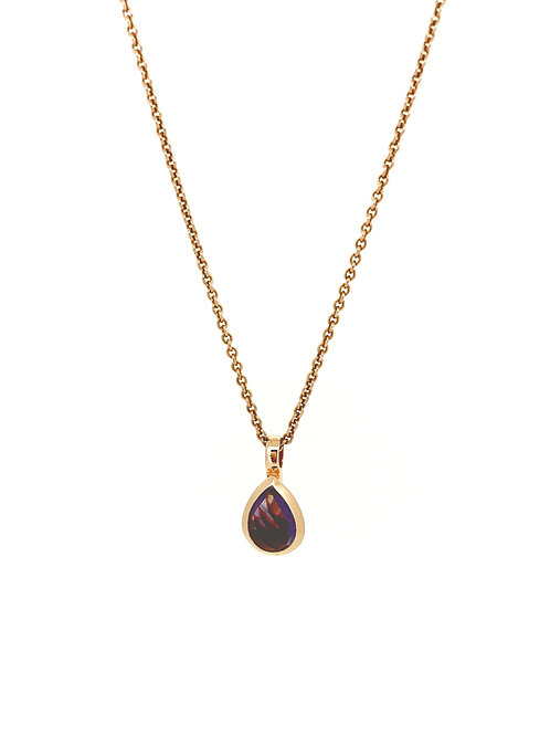 Amethyst and Rose Gold plated silver pendant
