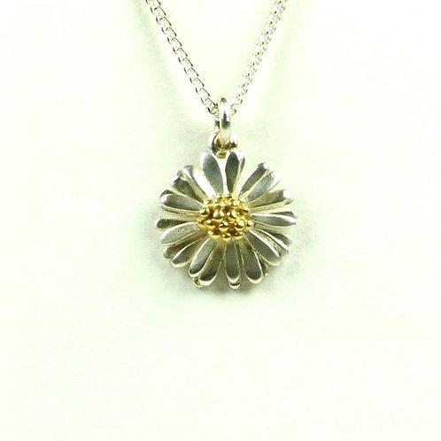 Daisy small silver pendant