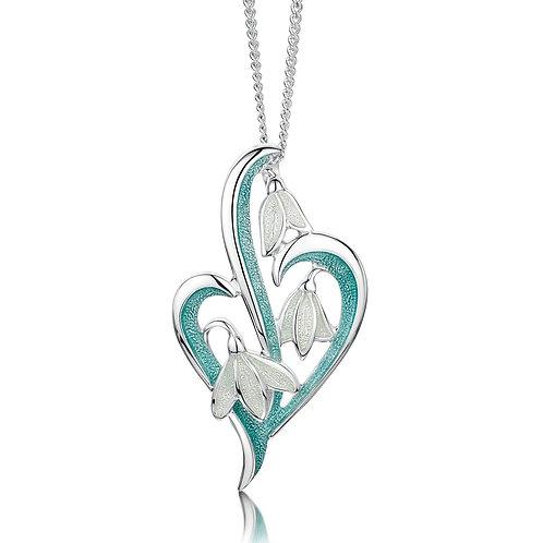 Snowdrop Three Flower silver pendant