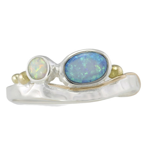Opalite silver ring