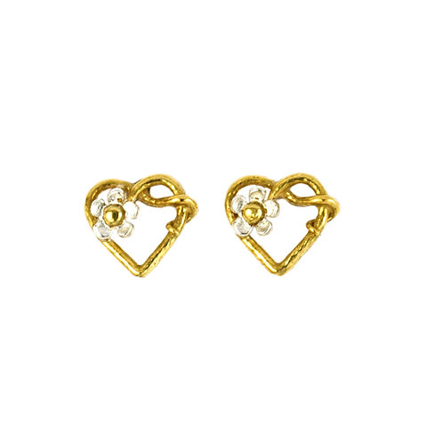 Posy Heart Stud Earrings