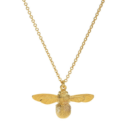 Yellow Gold plated baby bee necklace