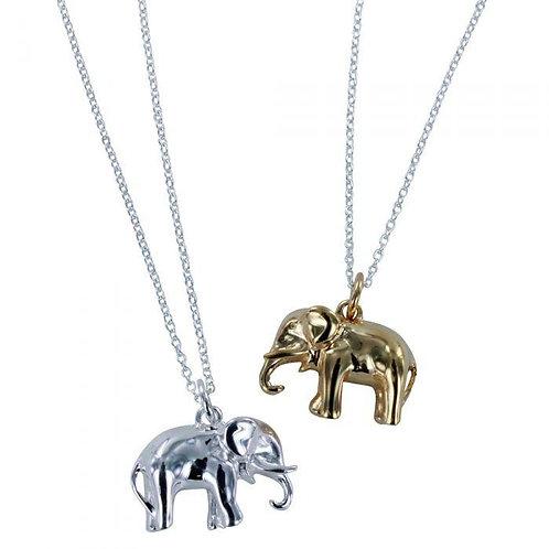 Elephant gold vermeil pendant