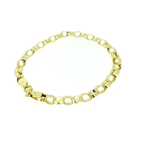 Paper-chain link 9ct gold bracelet