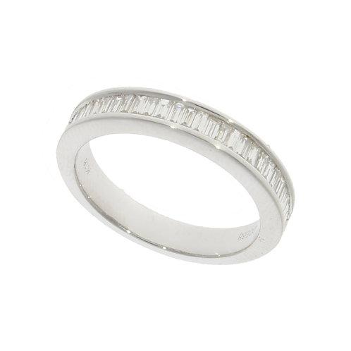 Diamond Baguette white gold eternity ring