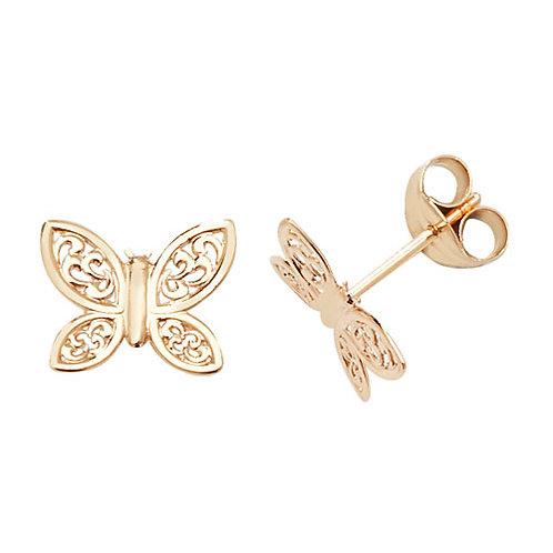 Butterfly Gold stud earrings