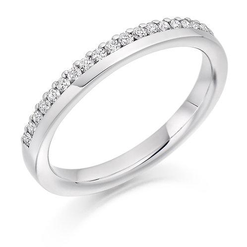 Offset Diamond 0.22ct half Eternity ring