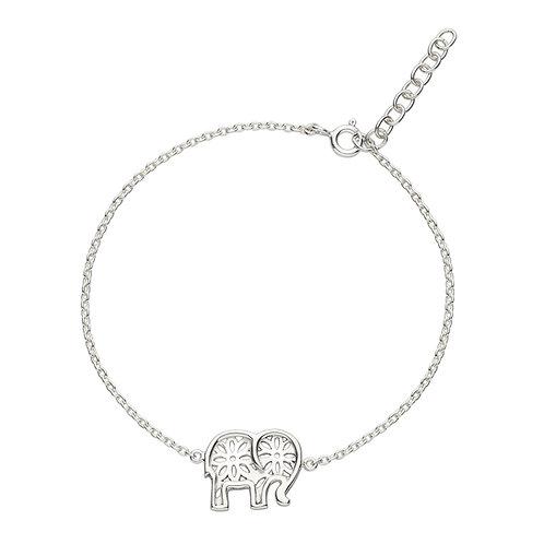 Elephant silver bracelet